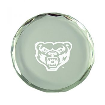 Oakland University-Crystal Paper Weight