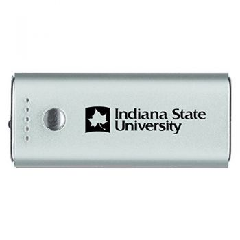 Indiana State University -Portable Cell Phone 5200 mAh Power Bank Charger -Silver