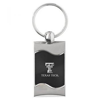 Texas Tech University - Wave Key Tag - Black