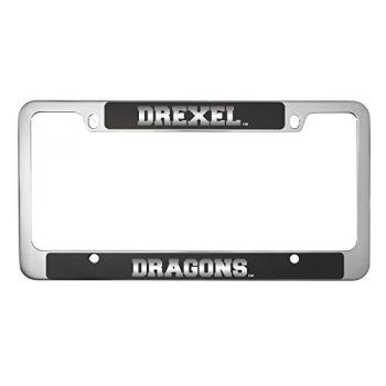 Drexel University -Metal License Plate Frame-Black