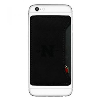 Nicholls State University -Cell Phone Card Holder-Black