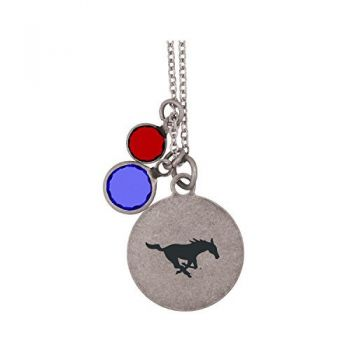 Southern Methodist University-Frankie Tyler by LXG Charmed Necklace