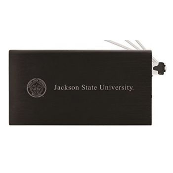 8000 mAh Portable Cell Phone Charger-Jackson State University-Black