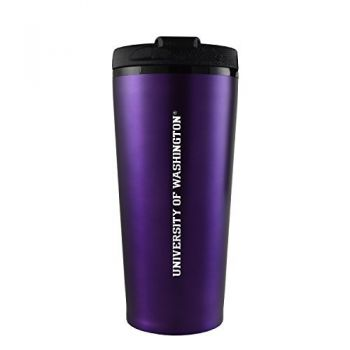 University of Washington-16 oz. Travel Mug Tumbler-Purple