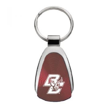Boston College - Teardrop Keychain - Burgundy