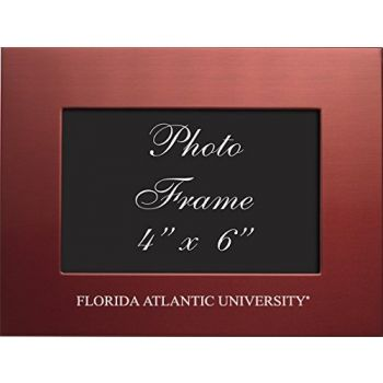 Florida Atlantic University - 4x6 Brushed Metal Picture Frame - Red