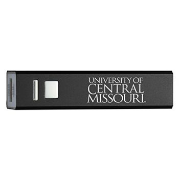University of Central Missouri - Portable Cell Phone 2600 mAh Power Bank Charger - Black