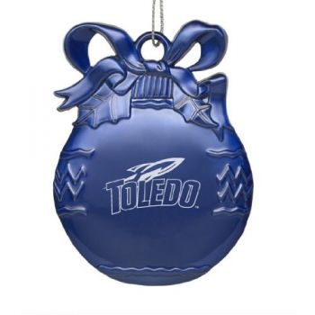 University of Toledo - Pewter Christmas Tree Ornament - Blue