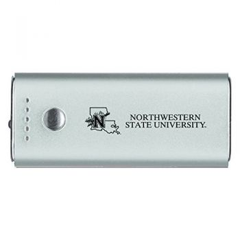 Northwestern State University -Portable Cell Phone 5200 mAh Power Bank Charger -Silver