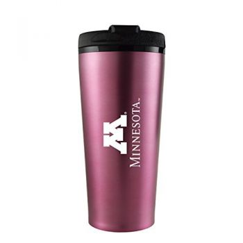 University of Minnesota -16 oz. Travel Mug Tumbler-Pink