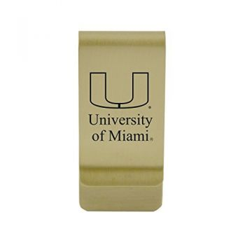 University of Massachusetts, Boston|Money Clip with Contemporary Metals Finish|Solid Brass|High Tension Clip to Securely Hold Cash, Cards and ID's|Silver