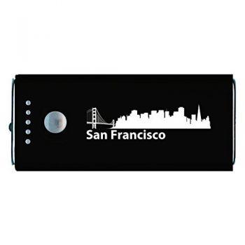 Quick Charge Portable Power Bank 5200 mAh - San Francisco City Skyline