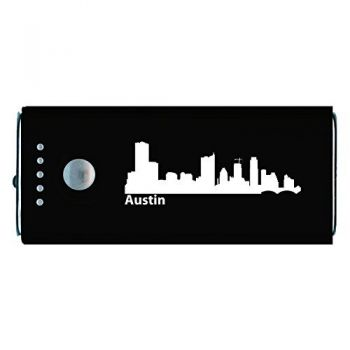 Austin, Texas-Portable Cell Phone 5200 mAh Power Bank Charger-Black