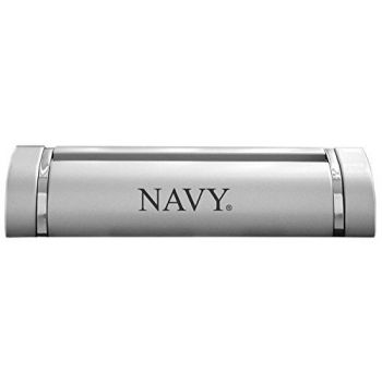 United States Naval Academy-Desk Business Card Holder -Silver