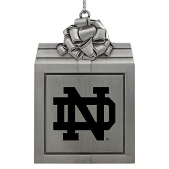 Pewter Gift Box Ornament - Notre Dame Fighting Irish