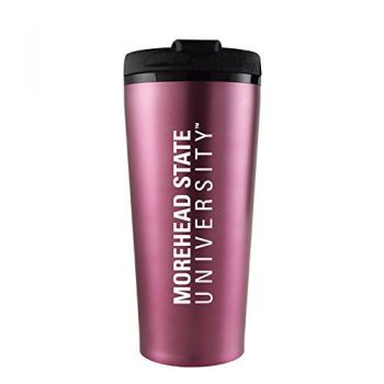 Morehead State University -16 oz. Travel Mug Tumbler-Pink