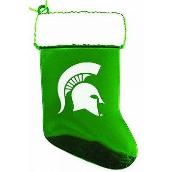 Michigan State University - Christmas Holiday Stocking Ornament - Green