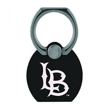 Long Beach State University|Multi-Functional Phone Stand Tech Ring|Black