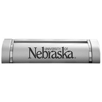 University of Nebraska??Lincoln-Desk Business Card Holder -Silver