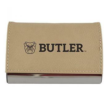 Velour Business Cardholder-Butler University-Tan