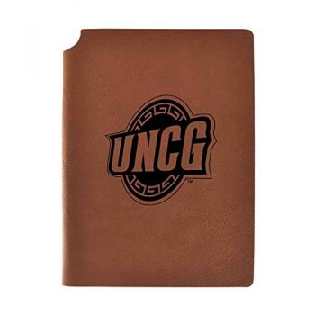 University of North Carolina at Greensboro Velour Journal with Pen Holder|Carbon Etched|Officially Licensed Collegiate Journal|