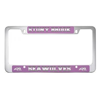 Stony Brook University -Metal License Plate Frame-Pink