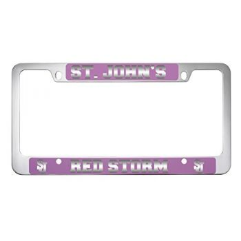 St. John's University -Metal License Plate Frame-Pink