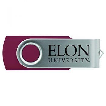 Elon University -8GB 2.0 USB Flash Drive-Burgundy