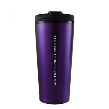 Western Illinois University -16 oz. Travel Mug Tumbler-Purple