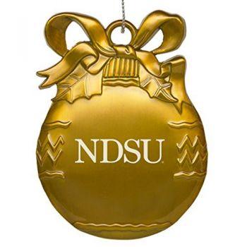 North Dakota State University - Pewter Christmas Tree Ornament - Gold
