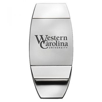 Western Carolina University - Two-Toned Money Clip - Silver