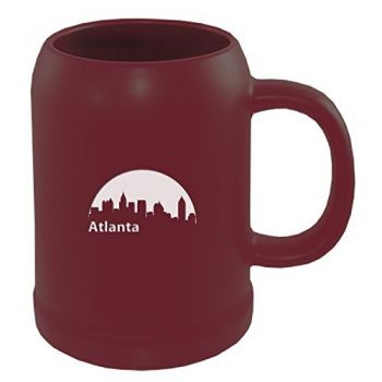 22 oz Ceramic Stein Coffee Mug - Atlanta City Skyline