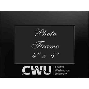 Central Washington University - 4x6 Brushed Metal Picture Frame - Black