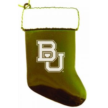 Baylor University - Chirstmas Holiday Stocking Ornament - Gold