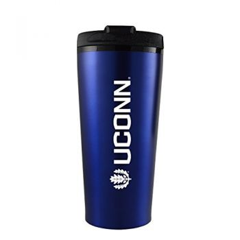 University of Connecticut-16 oz. Travel Mug Tumbler-Blue