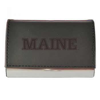 Velour Business Cardholder-University of Maine-Black
