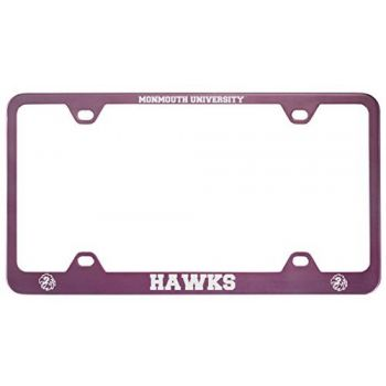 Monmouth University -Metal License Plate Frame-Pink