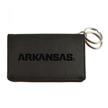 Velour ID Holder-University of Arkansas-Black