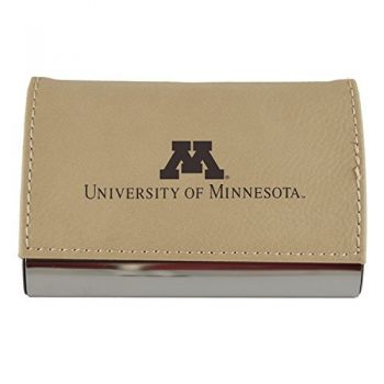 Velour Business Cardholder-University of Minnesota-Tan