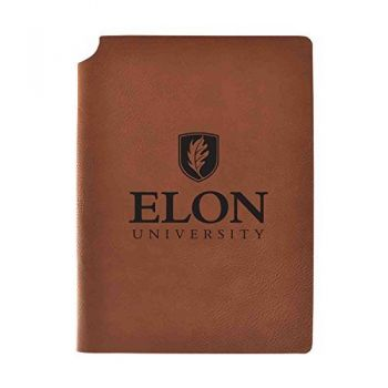 Elon University Velour Journal with Pen Holder|Carbon Etched|Officially Licensed Collegiate Journal|