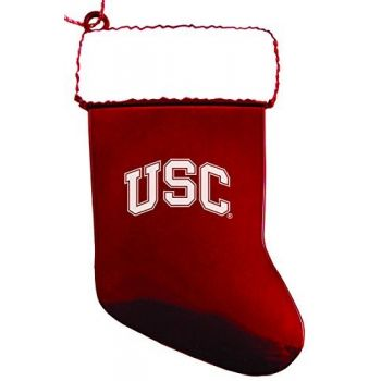 University of Southern California - Christmas Holiday Stocking Ornament - Red