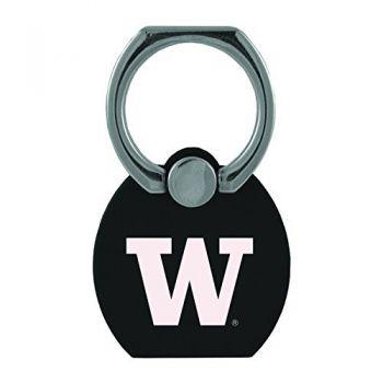 University of Washington|Multi-Functional Phone Stand Tech Ring|Black