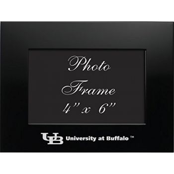 University at Buffalo - 4x6 Brushed Metal Picture Frame - Black