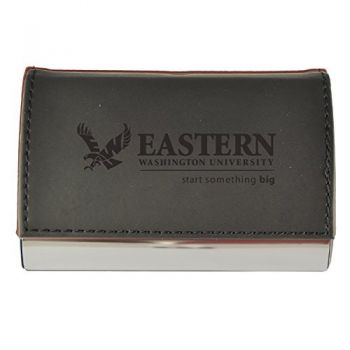 Velour Business Cardholder-Eastern Washington University-Black