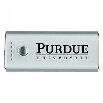 Purdue University -Portable Cell Phone 5200 mAh Power Bank Charger -Silver