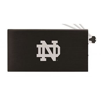 8000 mAh Portable Cell Phone Charger-University of Notre Dame-Black