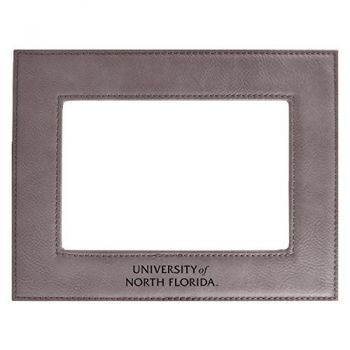 University of North Florida-Velour Picture Frame 4x6-Grey