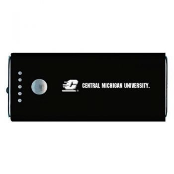Central Michigan University -Portable Cell Phone 5200 mAh Power Bank Charger -Black