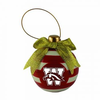 Western Michigan University-Christmas Bulb Ornament