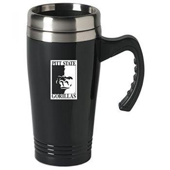 Pittsburg State University-16 oz. Stainless Steel Mug-Black